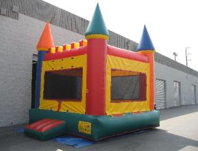 Click on this picture to check out our Rainbow Castle jumper rental.