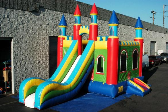 Mega Slide Castle Combo jumper available for rent from ELY Party rentals, get yours reserved today!