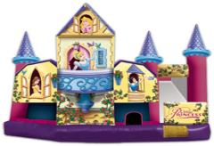 One of the biggest hits with little girls! Make your daughters birthday party a one she'll remember by renting the Disney Princess 5 in 1 Combo jumper from ELY Party Rentals!