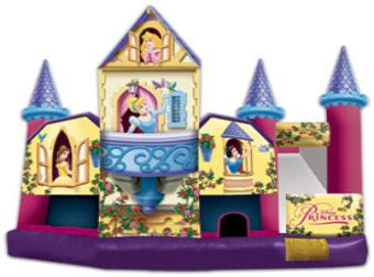 Reserve one of our most popular rentals in Dallas the Disney Princess Bounce House 5-in-1 Combo!